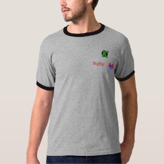 Roca hacia fuera con su cerradura en camiseta
