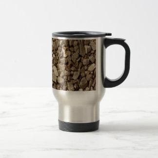 Roca natural del granito taza de viaje de acero inoxidable