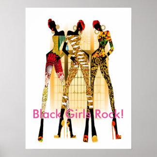 ¡Roca negra de los chicas! Póster