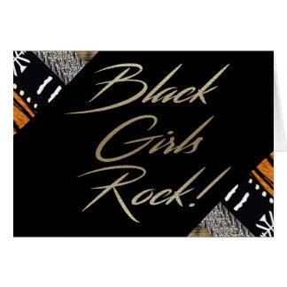 ¡Roca negra de los chicas! Tarjeta