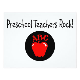 Roca preescolar Apple de los profesores Invitación 10,8 X 13,9 Cm