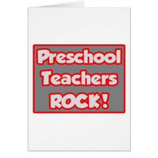 ¡Roca preescolar de los profesores! Tarjeta