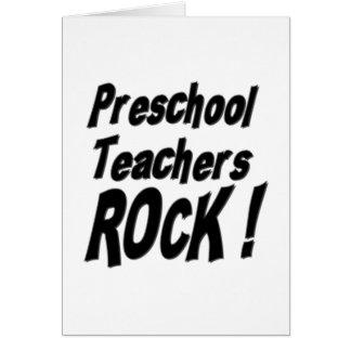 ¡Roca preescolar de los profesores! Tarjeta de fel