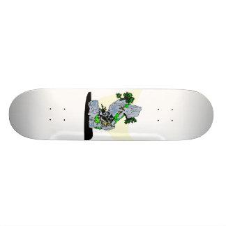 Roca que planta imagen del gráfico de los bonsais patinetas personalizadas