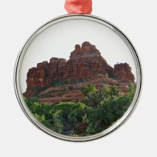 Roca Sedona de Bell Adorno Navideño Redondo De Metal