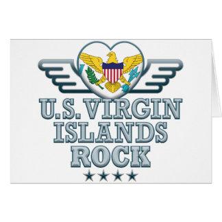 Roca v2 de las Islas Vírgenes de los E.E.U.U. Tarjetón