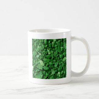 Roca verde del granito taza