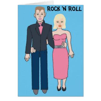 roca y rollo de los años 50 tarjeta de felicitación