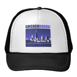 ¡Rocas de Chicago! Gorros Bordados