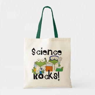 Rocas de la ciencia de las ranas bolso de tela