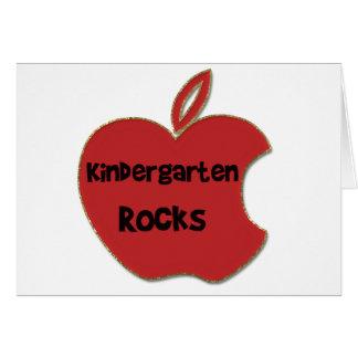 Rocas de la guardería tarjeta de felicitación