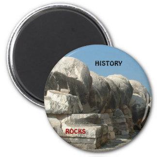 Rocas de la historia imán redondo 5 cm