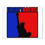 ¡Rocas de la libertad! Invitación 10,8 X 13,9 Cm