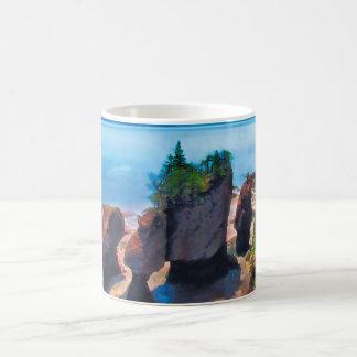 Rocas de la maceta taza de café