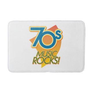 ¡rocas de la música 70s! alfombrilla de baño