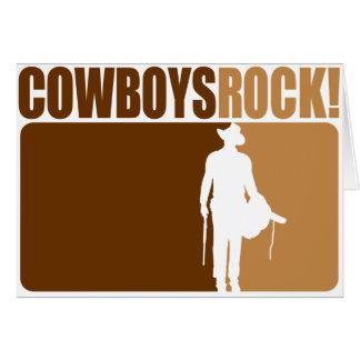 ¡Rocas de los vaqueros! Tarjeta De Felicitación