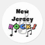 Rocas de New Jersey Etiquetas Redondas