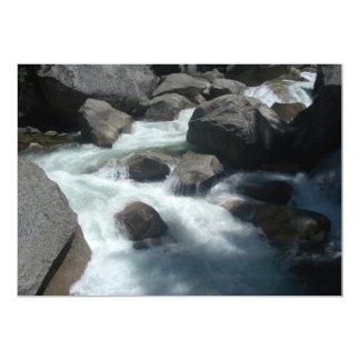 Rocas de Yosemite del río de Merced Invitación 12,7 X 17,8 Cm