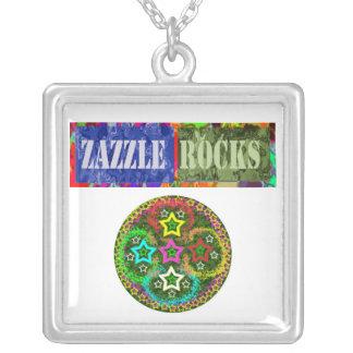 ROCAS de ZAZZLE - Nacklace para los vendedores de  Colgante Cuadrado