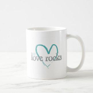 Rocas del amor taza de café