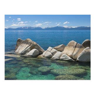Rocas del este de la orilla, el lago Tahoe… Postal
