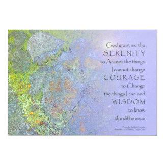 Rocas del jardín del rezo de la serenidad invitación 12,7 x 17,8 cm