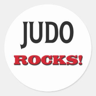 Rocas del judo pegatinas redondas