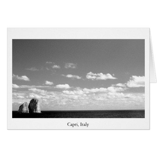 Rocas del océano tarjeta de felicitación