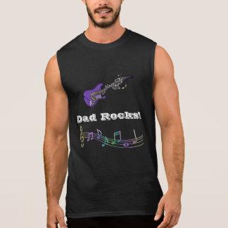¡Rocas del papá! Camisetas sin mangas del músico