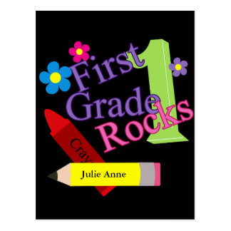 Rocas del primer grado para los chicas postales