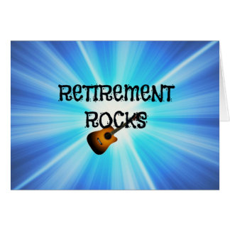 Rocas del retiro tarjeta de felicitación