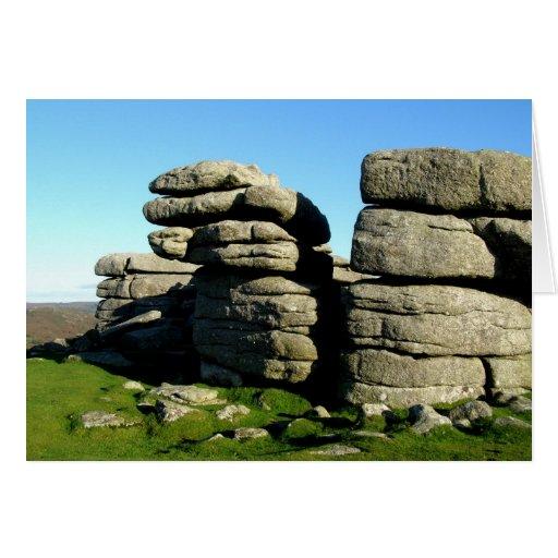 Rocas del tor de Dartmoor Tarjetón