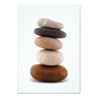 Rocas del zen; Invitación del boda
