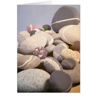 Rocas en la playa tarjeta
