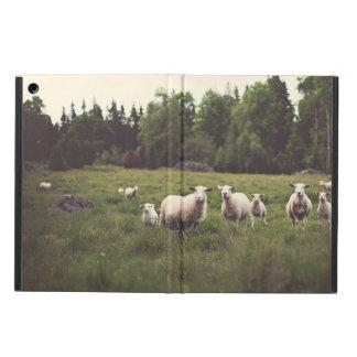 Rocas mullidas blancas de los árboles del campo de funda para iPad air