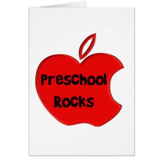 Rocas preescolares tarjeta de felicitación