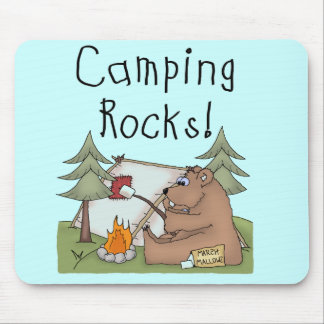 Rocas que acampan tapete de raton