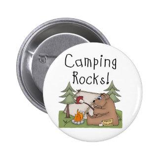Rocas que acampan chapa redonda de 5 cm