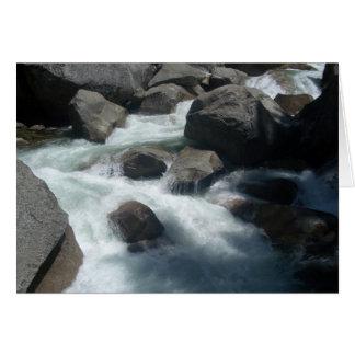 Rocas - río de Merced Tarjeta De Felicitación