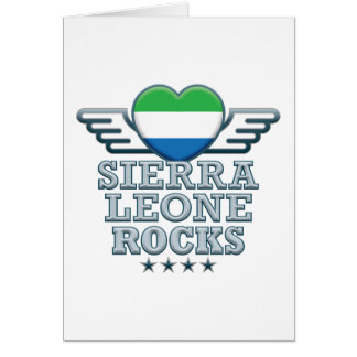 Rocas v2 del Sierra Leone Tarjeta De Felicitación