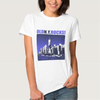 ¡Rocas viejas de la N.Y.! Camisetas