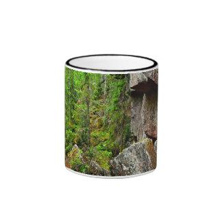 Rocas y barrancos del granito en Finlandia Taza De Dos Colores