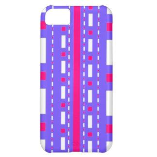 Rociada de los puntos en blanco magenta de la lila funda para iPhone 5C