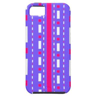 Rociada de los puntos en blanco magenta de la lila iPhone 5 Case-Mate carcasa