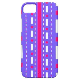 Rociada de los puntos en blanco magenta de la lila iPhone 5 Case-Mate coberturas