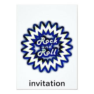 Rock-and-roll de neón invitación 12,7 x 17,8 cm