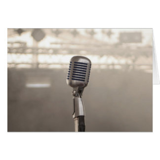 Rock And Roll Microphone Felicitaciones