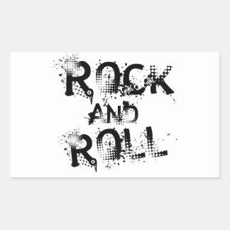 Rock-and-roll Pegatina Rectangular