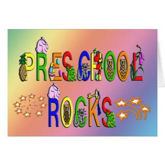 Rock preescolares - estrellas tarjeta de felicitación