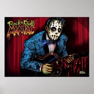 Rockabilly del maniaco del rollo de la roca n póster